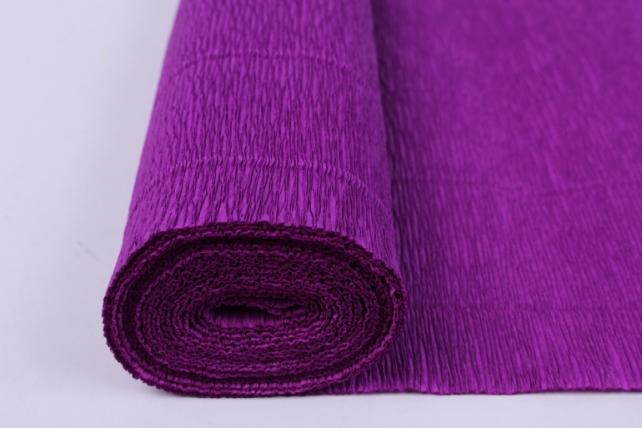 бумага гофрированная простая - фиолетовый 593