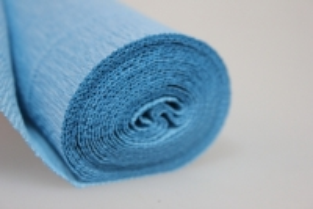 бумага гофрированная простая - голубой 556