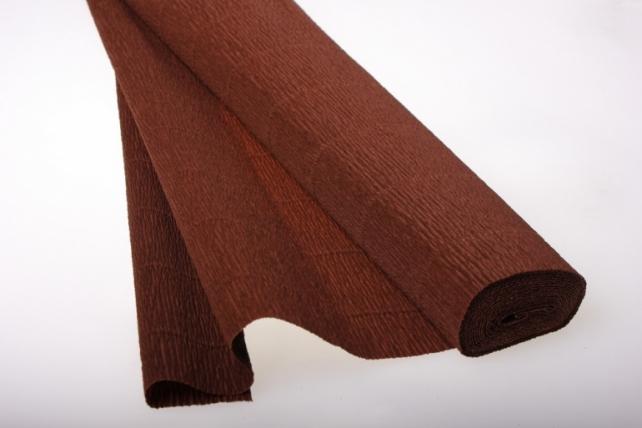 Бумага гофрированная простая - коричневый 568