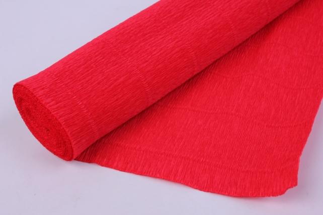 бумага гофрированная простая - красный 580
