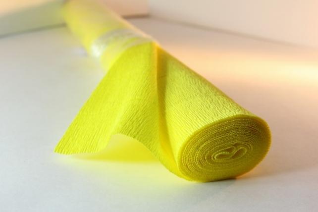 бумага гофрированная простая - лимонный 575