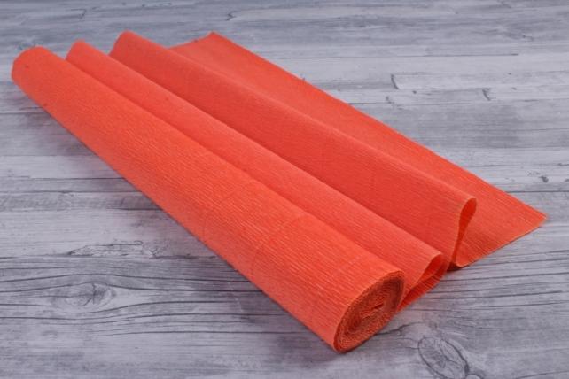 бумага гофрированная простая - оранжевый 581