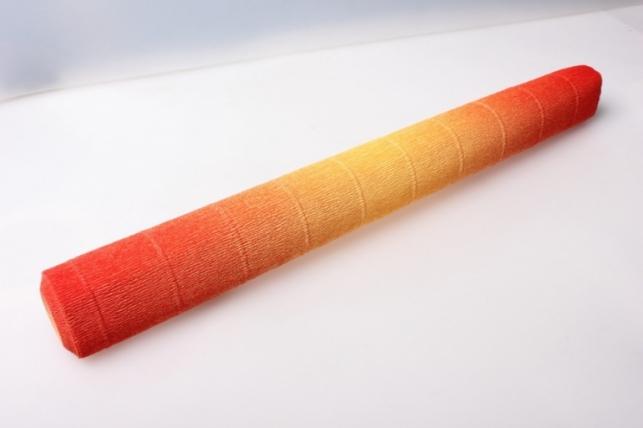 бумага гофрированная простая с переходом 576/9 желто-красная