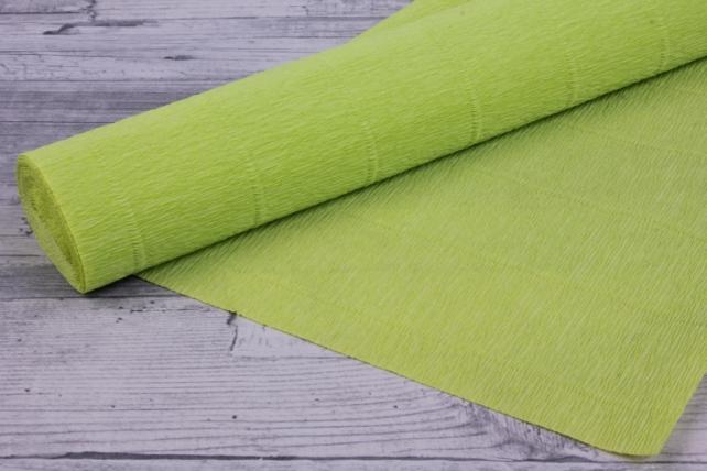 Бумага гофрированная простая - салатовый 558