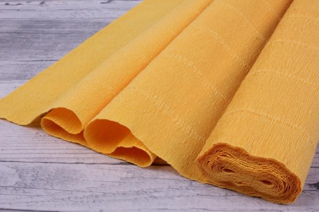 бумага гофрированная простая - светло-оранжевый 576