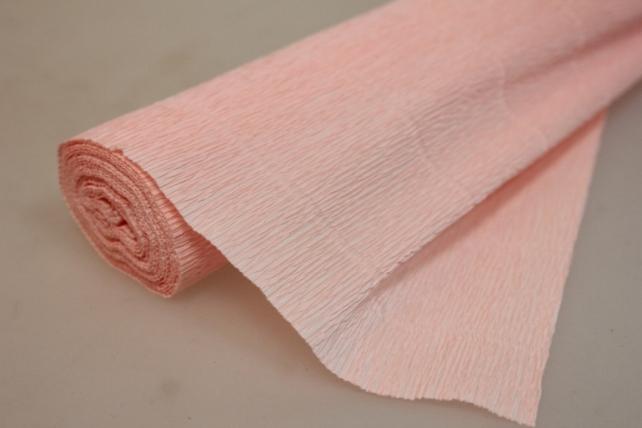 Бумага гофрированная простая - светло-персиковый 548