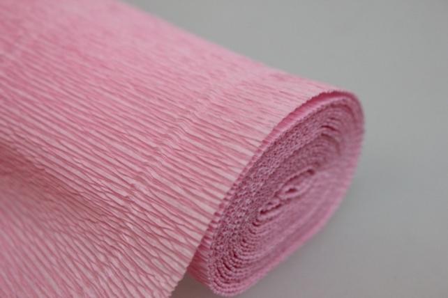 Бумага гофрированная простая - светло-розовый 549