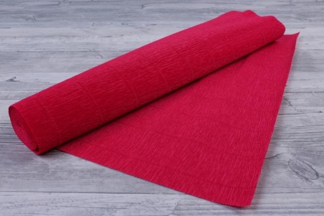 Бумага гофрированная простая - светло-вишневый 582