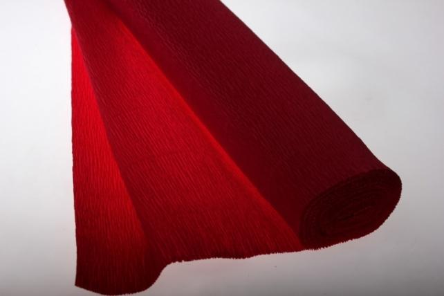 бумага гофрированная простая тёмно-красная