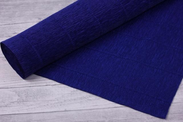 Бумага гофрированная простая - темно-синий 555