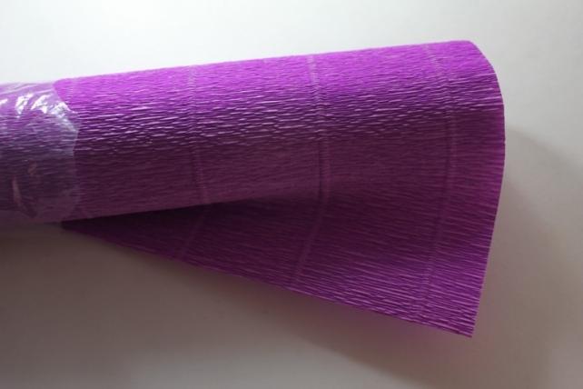 бумага гофрированная простая - ярко-сиреневый 590