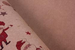 бумага крафт  02/х001  нов. год. танцующий санта 100*70см (10 листов)