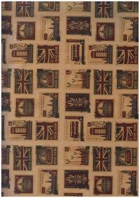 "Бумага КРАФТ 203/009 ""Лондон GOODBYE"" 0,7х1м в лист. 06502  (10 лист.)"