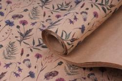Бумага КРАФТ 203/362 Полевые цветы 100*70см  (10 листов)