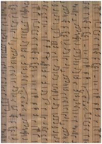 """Бумага КРАФТ 203/651 """"Нотный стан"""" 0,7х1м в листе 07402 (10 листов в рулоне)"""