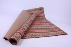 бумага крафт  203/х125  нов. год. рождественские ряды 100*70см (10 листов)