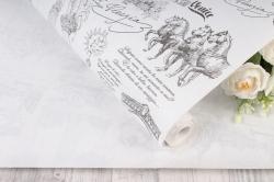 """Бумага крафт беленый """"Венеция"""" 72см*10м. 50 г/м2   44030ПУ"""