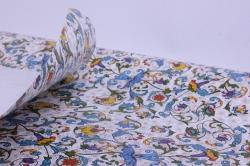 бумага  крафт белый барокко синие  0,7*1м в лист. (10 лист.) м