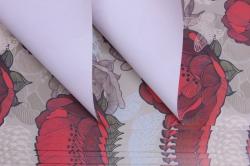 бумага  крафт белый цветы 2  0,7*1м в лист. (10 лист.) uncv2-k