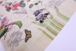 бумага  крафт белый цветы ретро  0,7*1м в лист. (10 лист.) м