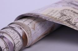 бумага  крафт белый франция  0,7*1м в лист. (10 лист.)  м