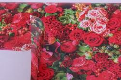 бумага  крафт белый  красные цветы  0,7*1м в лист. (10 лист.) unkc-k
