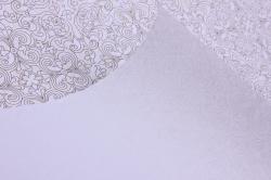 бумага  крафт белый лилии голд  0,7*1м в лист. (10 лист.) unlg-k