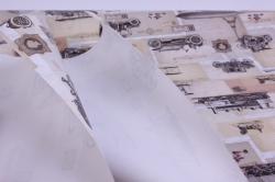 бумага  крафт белый паровозы ретро  0,7*1м в лист. (10 лист.)