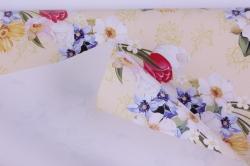 бумага  крафт белый весенний привет  0,7*1м в лист. (10 лист.) unvp-k