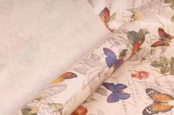 "Бумага крафт цветочная ""Бабочки Ретро "" 70см*10м  40г/м2  GPBUTT-40  (М)"