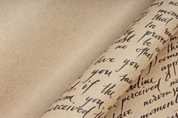 Бумага крафт цветочная Caroline чёрный  70см*10м. 60 г/м2  М  К715/3