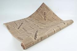 Бумага крафт цветочная газета Milk Chokolate черный 70см*10м. 60 г/м2  М К712