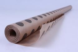 бумага  крафт цветочная горох серый 70см*10м  40г/м2    33071пу   м