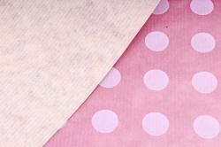 Бумага  крафт цветочная Круги на Сиреневом 70см*10м  40г/м2    32916ПУ   М