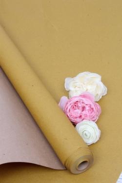 Бумага крафт цветочная Оливковая 70см*10м. 70 г/м2  52918ПУ