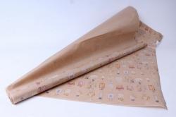 бумага  крафт цветочная парфюм 84см*10м  40г/м2    31629   м