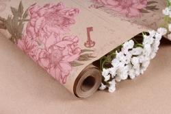 Бумага крафт цветочная Peones роз/фист/борд 70см*10м. 60 г/м2   К760/5   М
