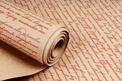 "Бумага крафт цветочная ""Письмо Коричневый"" 70см*10м. 70 г/м2 (М) 44462ПУ"