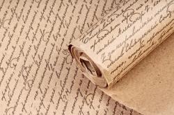 """Бумага крафт цветочная """"Письмо Серый"""" 70см*10м. 70 г/м2 (М) 44463ПУ"""