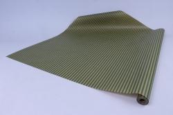 Бумага  крафт цветочная Полосы Зеленые 70см*10м  40г/м2    32918ПУ   М
