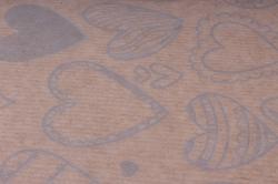 бумага  крафт цветочная сердечки фигурные серебро 72см*10м  40г/м2   33776пу   м