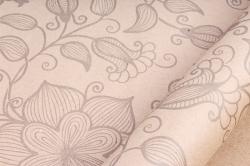 """Бумага крафт цветочная """"Вьюнок серый """" 70см*10м  70г/м2  35245ПУ  (М)"""
