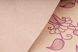 "Бумага крафт цветочная ""Вьюнок сиреневый "" 70см*10м  70г/м2  35246ПУ  (М)"