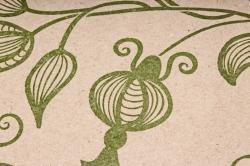 """Бумага крафт цветочная """"Вьюнок зеленый """" 70см*10м  70г/м2  35244ПУ  (М)"""