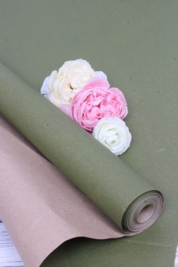 Бумага крафт цветочная Зелёная 70см*10м. 70 г/м2  47933ПУ
