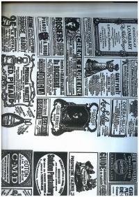 Бумага  КРАФТ  Газета Новости черная  0,7*10м в лист. На белом.. фоне УУКр9 М