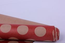 бумага  крафт крупный горох  0,7*1м (10 лист.) 78г/м2  м