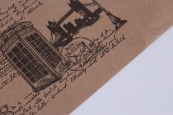 """бумага  крафт """"лондон"""" 70см*10м черная на коричневом фоне уукр7 м"""