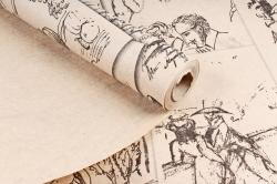 Бумага крафт 78/м2, 70 см x 10 м Пушкин А.С. черный00076864