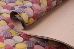 Бумага КРАФТ Меренги  0,7*1м (10 лист.) 78г/м2  М